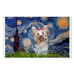 Starry Night Yorkie (T) Sticker (Rectangle)