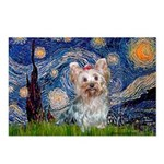 Starry Night Yorkie (T) Postcards (Package of 8)