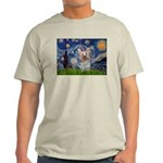 Starry Night Yorkie (T) Light T-Shirt