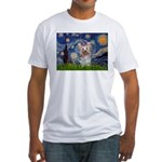 Starry Night Yorkie (T) Fitted T-Shirt