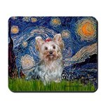 Starry Night Yorkie (T) Mousepad