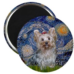 Starry Night Yorkie (T) Magnet