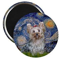 Starry Night Yorkie (T) Magnet