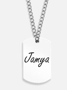 Jamya artistic Name Design Dog Tags