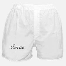 Janessa artistic Name Design Boxer Shorts