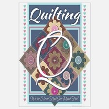 Funny Quilting mom Wall Art