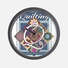 Cute Knitting mom Wall Clock