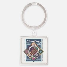 Cute Quilting mom Square Keychain