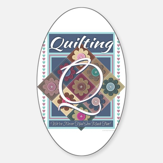 Cute Cross stitch Sticker (Oval)