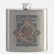 Cute Quilting mom Flask