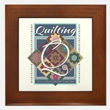 Cute Cross stitch Framed Tile