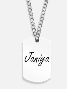 Janiya artistic Name Design Dog Tags