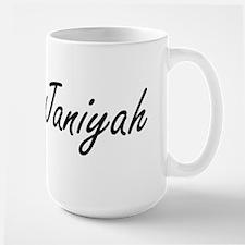 Janiyah artistic Name Design Mugs