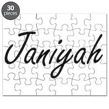 Janiyah artistic Name Design Puzzle