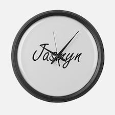 Jasmyn artistic Name Design Large Wall Clock
