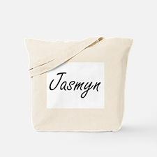 Jasmyn artistic Name Design Tote Bag
