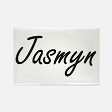 Jasmyn artistic Name Design Magnets