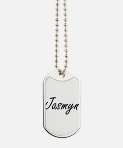 Jasmyn artistic Name Design Dog Tags