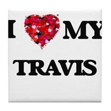 I Love MY Travis Tile Coaster