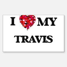 I Love MY Travis Decal