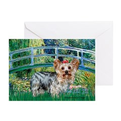 Bridge / Yorkie (T) Greeting Cards (Pk of 10)