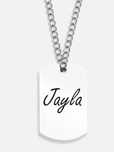 Jayla artistic Name Design Dog Tags