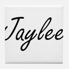 Jaylee artistic Name Design Tile Coaster
