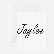 Jaylee artistic Name Design Greeting Cards