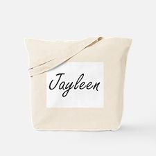 Jayleen artistic Name Design Tote Bag