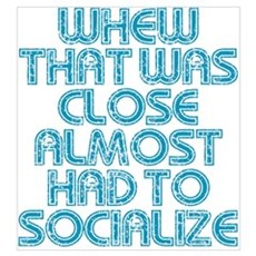 Almost Had To Socialize Poster