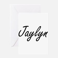 Jaylyn artistic Name Design Greeting Cards