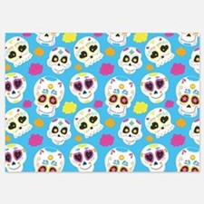 Sugar Skull Pattern 5x7 Flat Cards