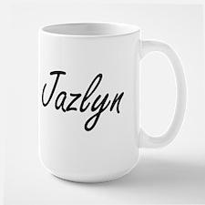 Jazlyn artistic Name Design Mugs