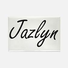 Jazlyn artistic Name Design Magnets
