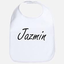 Jazmin artistic Name Design Bib