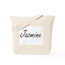 Jazmine artistic Name Design Tote Bag