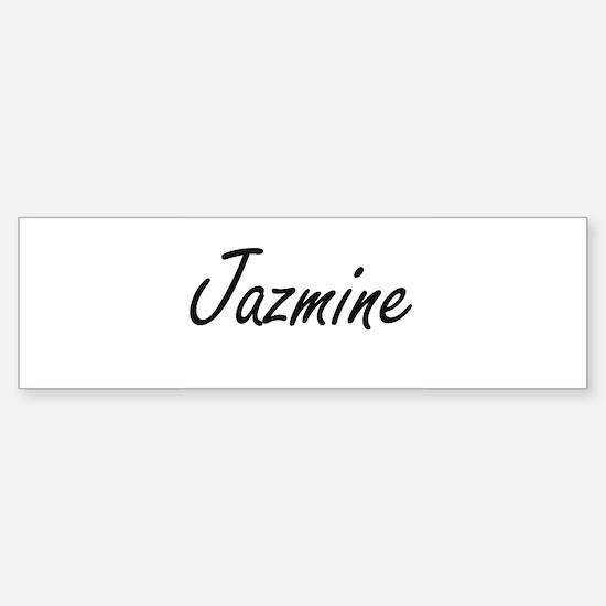 Jazmine artistic Name Design Bumper Bumper Bumper Sticker