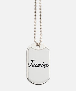 Jazmine artistic Name Design Dog Tags