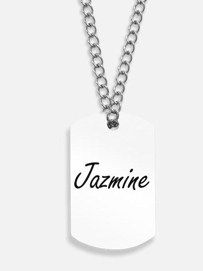 Jazmine artistic Name Design Dog Tags