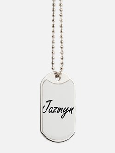 Jazmyn artistic Name Design Dog Tags