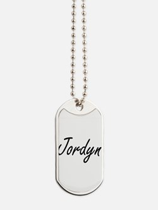 Jordyn artistic Name Design Dog Tags