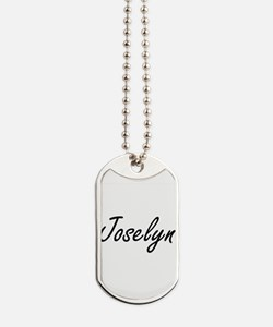 Joselyn artistic Name Design Dog Tags