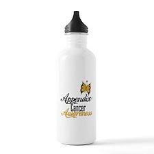 Appendix Cancer Awareness Butterfly Water Bottle