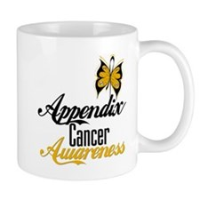 Appendix Cancer Awareness Butterfly Mugs