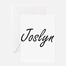Joslyn artistic Name Design Greeting Cards