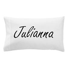 Julianna artistic Name Design Pillow Case