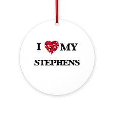 I Love MY Stephens Ornament (Round)