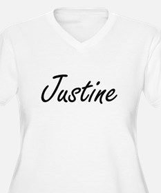 Justine artistic Name Design Plus Size T-Shirt