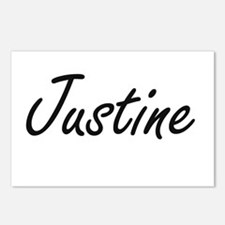 Justine artistic Name Des Postcards (Package of 8)