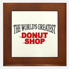 """The World's Greatest Donut Shop"" Framed Tile"